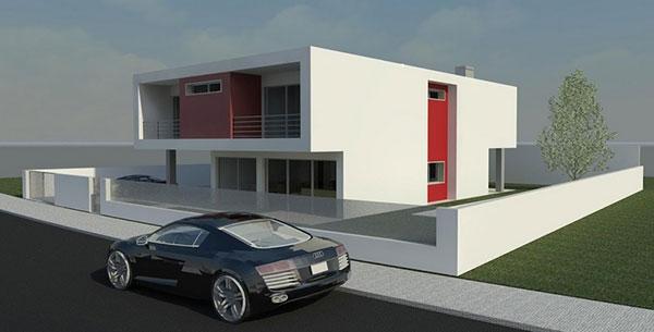 Projeto em 3D de uma casa