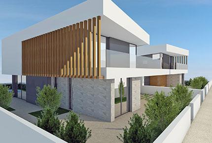 Exterior de moradia para venda em 3d